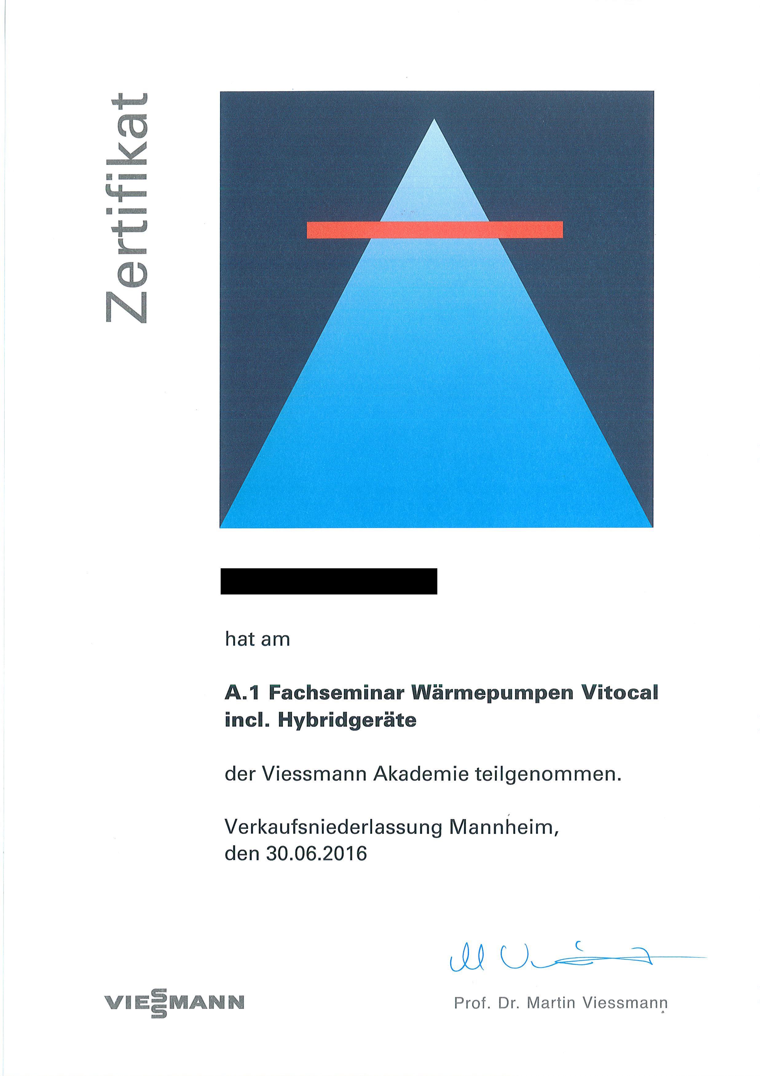 Fachseminar Wärmepumpen Vitocal incl. Hybridgeräte