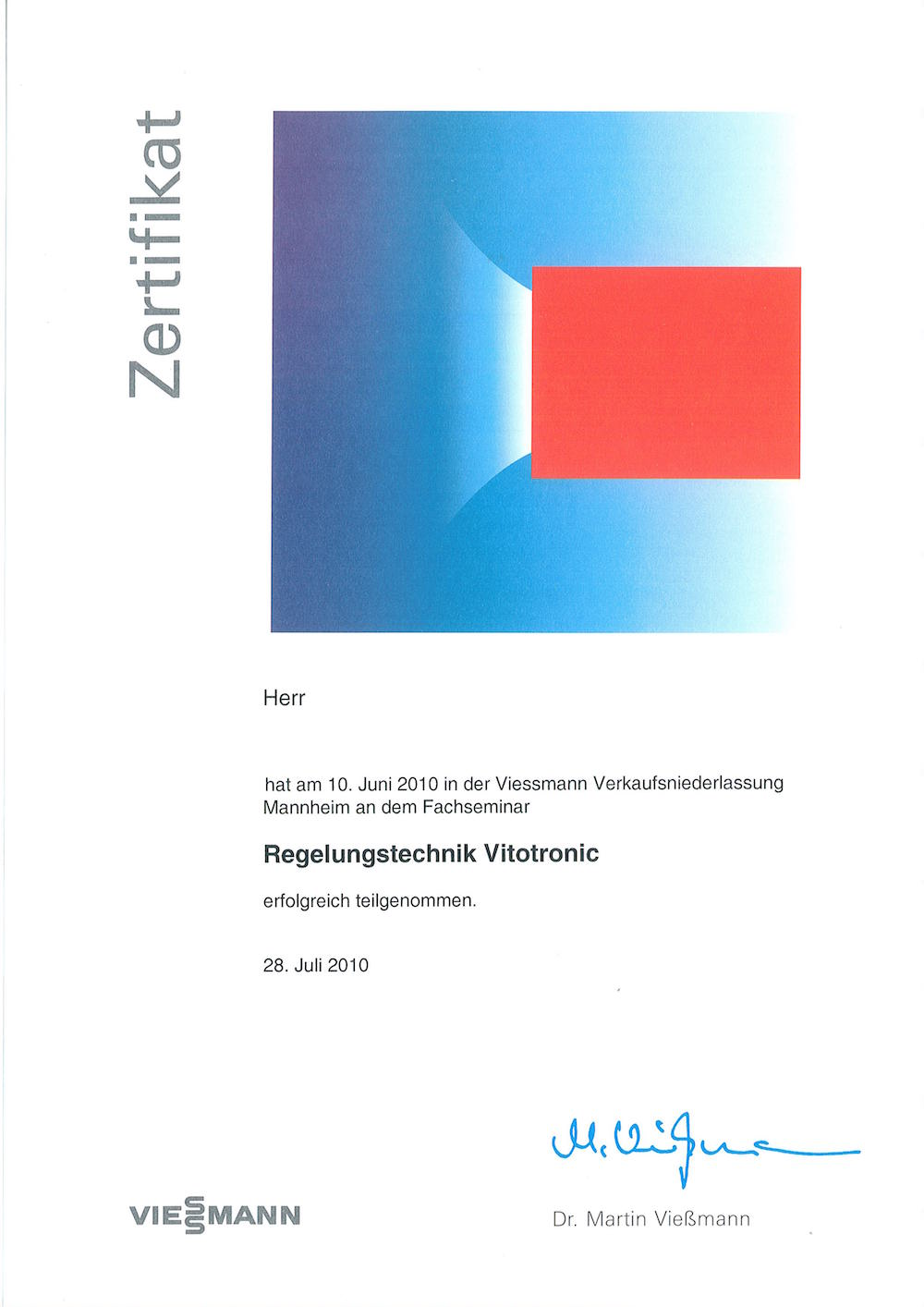 Regelungstechnik Vitotronic