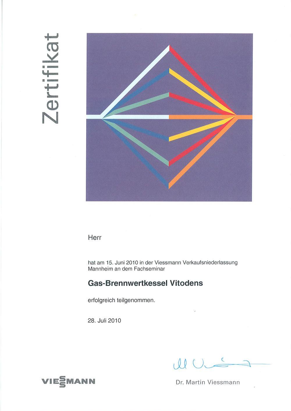 Gas-Brennwertkessel Vitodens